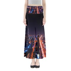 Dubai Cityscape Emirates Travel Full Length Maxi Skirt by Nexatart