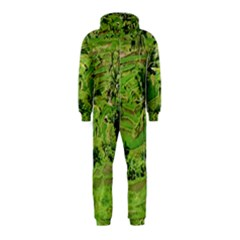 Greenery Paddy Fields Rice Crops Hooded Jumpsuit (kids) by Nexatart