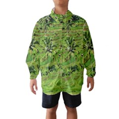 Greenery Paddy Fields Rice Crops Wind Breaker (kids) by Nexatart
