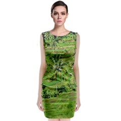 Greenery Paddy Fields Rice Crops Classic Sleeveless Midi Dress by Nexatart