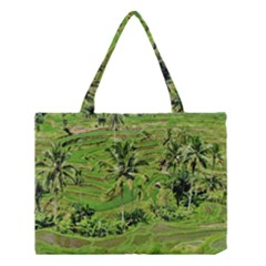 Greenery Paddy Fields Rice Crops Medium Tote Bag