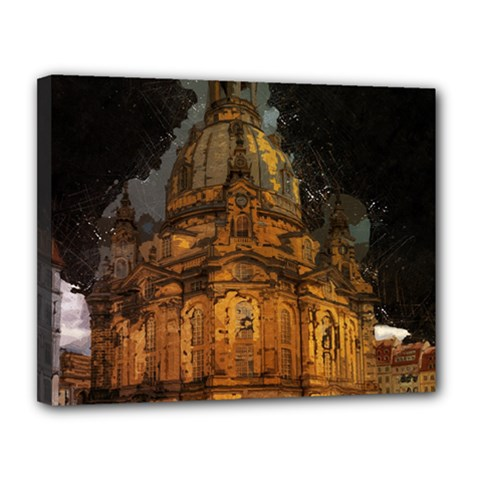 Dresden Frauenkirche Church Saxony Canvas 14  X 11  by Nexatart