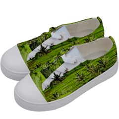Bali Rice Terraces Landscape Rice Kids  Low Top Canvas Sneakers by Nexatart
