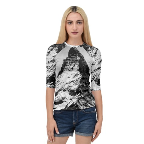 Matterhorn Switzerland Mountain Quarter Sleeve Raglan Tee by Nexatart