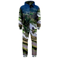 Rice Terrace Rice Fields Hooded Jumpsuit (men)