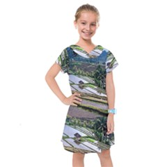 Rice Terrace Rice Fields Kids  Drop Waist Dress