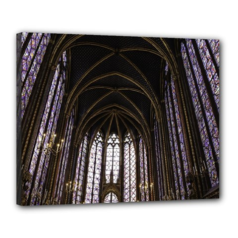 Sainte Chapelle Paris Stained Glass Canvas 20  X 16  by Nexatart