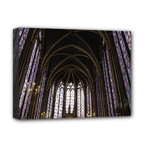 Sainte Chapelle Paris Stained Glass Deluxe Canvas 16  X 12   by Nexatart