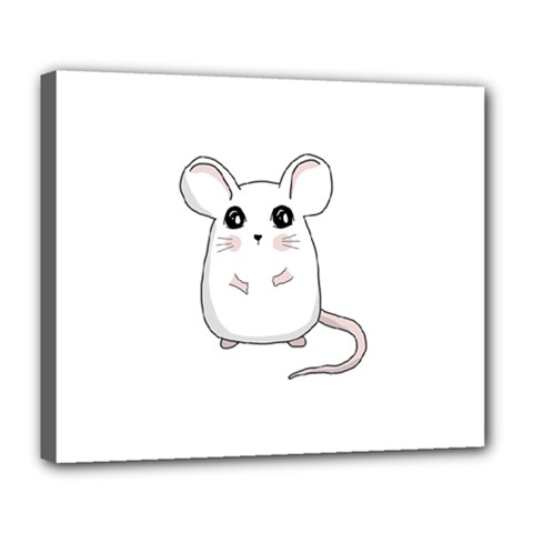 Cute Mouse Deluxe Canvas 24  X 20   by Valentinaart