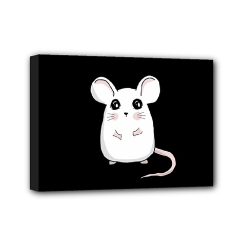 Cute Mouse Mini Canvas 7  X 5  by Valentinaart