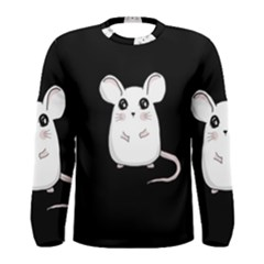 Cute Mouse Men s Long Sleeve Tee