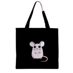 Cute Mouse Zipper Grocery Tote Bag