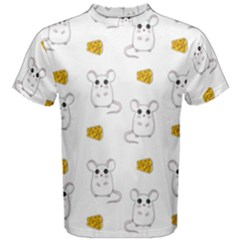 Cute Mouse Pattern Men s Cotton Tee