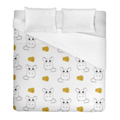 Cute Mouse Pattern Duvet Cover (full/ Double Size) by Valentinaart