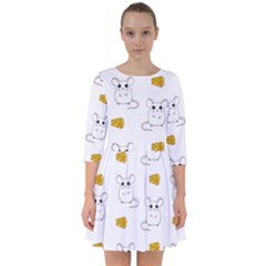 Cute Mouse Pattern Smock Dress