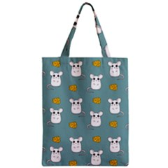 Cute Mouse Pattern Zipper Classic Tote Bag by Valentinaart