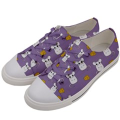 Cute Mouse Pattern Men s Low Top Canvas Sneakers by Valentinaart