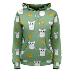 Cute Mouse Pattern Women s Pullover Hoodie