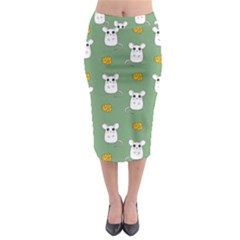 Cute Mouse Pattern Midi Pencil Skirt by Valentinaart