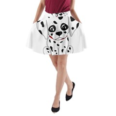 Cute Dalmatian Puppy  A Line Pocket Skirt by Valentinaart
