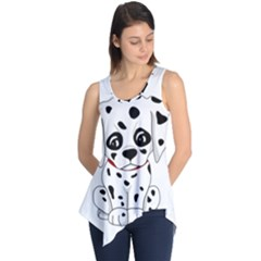 Cute Dalmatian Puppy  Sleeveless Tunic by Valentinaart