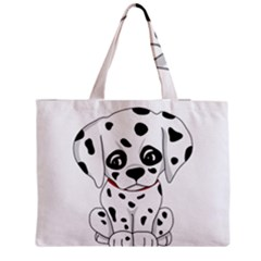Cute Dalmatian Puppy  Medium Tote Bag by Valentinaart