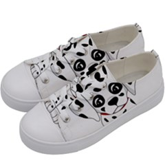 Cute Dalmatian Puppy  Kids  Low Top Canvas Sneakers by Valentinaart