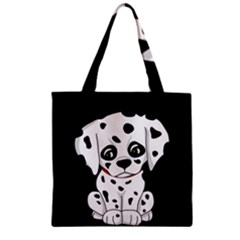 Cute Dalmatian Puppy  Zipper Grocery Tote Bag by Valentinaart