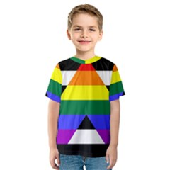 Straight Ally Flag Kids  Sport Mesh Tee