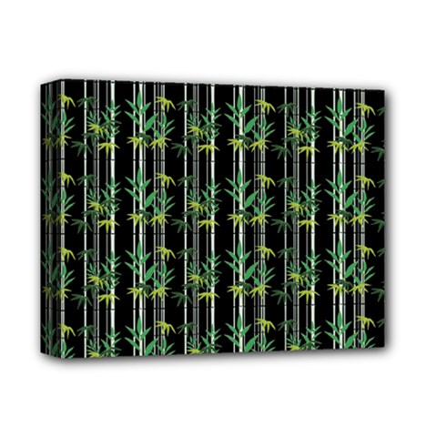 Bamboo Pattern Deluxe Canvas 14  X 11  by ValentinaDesign