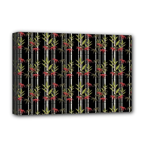 Bamboo Pattern Deluxe Canvas 18  X 12   by ValentinaDesign
