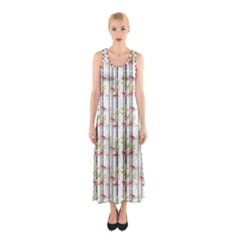 Bamboo Pattern Sleeveless Maxi Dress by ValentinaDesign