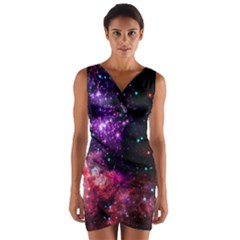 Space Colors Wrap Front Bodycon Dress by ValentinaDesign