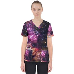 Space Colors Scrub Top by ValentinaDesign