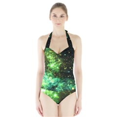 Space Colors Halter Swimsuit by ValentinaDesign