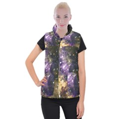 Space Colors Women s Button Up Puffer Vest by ValentinaDesign