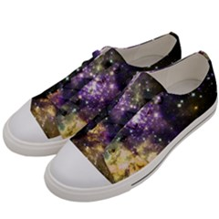 Space Colors Men s Low Top Canvas Sneakers by ValentinaDesign