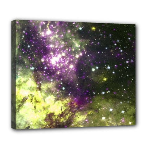 Space Colors Deluxe Canvas 24  X 20   by ValentinaDesign