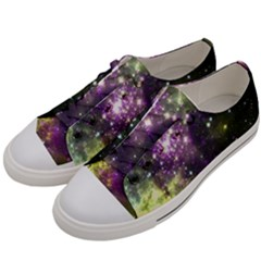 Space Colors Women s Low Top Canvas Sneakers by ValentinaDesign