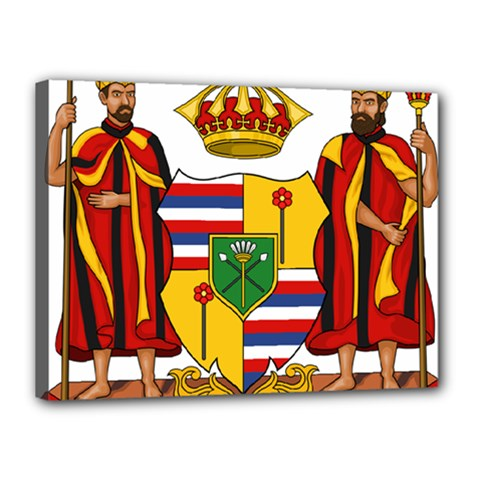 Kingdom Of Hawaii Coat Of Arms, 1795 1850 Canvas 16  X 12  by abbeyz71