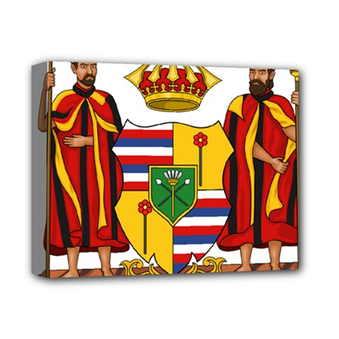 Kingdom Of Hawaii Coat Of Arms, 1795 1850 Deluxe Canvas 14  X 11  by abbeyz71
