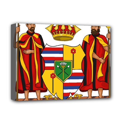 Kingdom Of Hawaii Coat Of Arms, 1795 1850 Deluxe Canvas 16  X 12   by abbeyz71