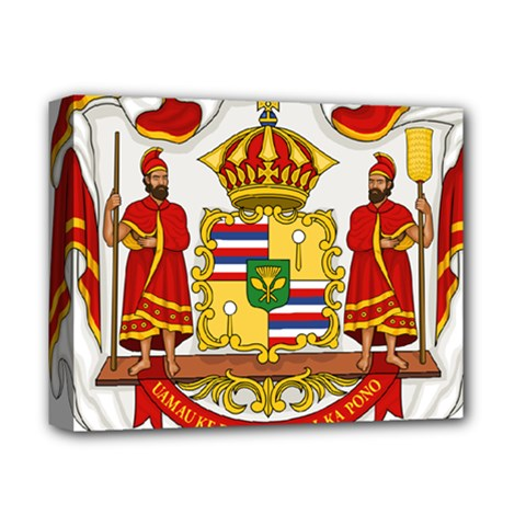 Kingdom Of Hawaii Coat Of Arms, 1850 1893 Deluxe Canvas 14  X 11  by abbeyz71