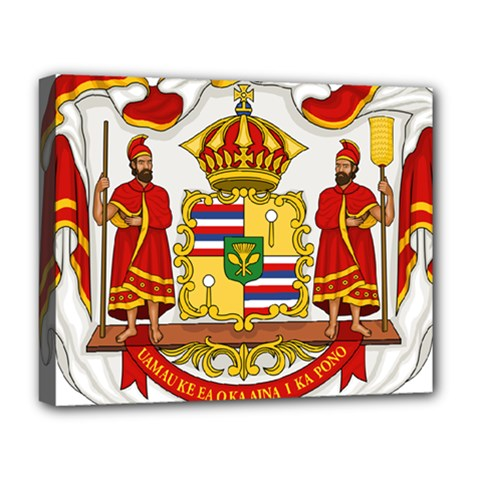 Kingdom Of Hawaii Coat Of Arms, 1850 1893 Deluxe Canvas 20  X 16   by abbeyz71