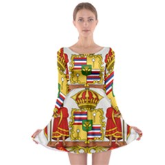 Kingdom Of Hawaii Coat Of Arms, 1850 1893 Long Sleeve Skater Dress by abbeyz71