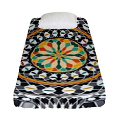 High Contrast Mandala Fitted Sheet (single Size) by linceazul