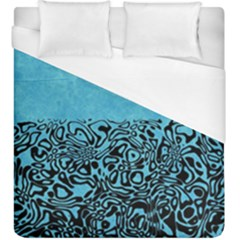 Modern Paperprint Turquoise Duvet Cover (king Size) by MoreColorsinLife