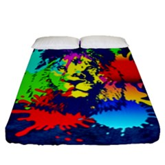 Lion Fitted Sheet (queen Size) by stockimagefolio1
