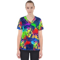 Lion Scrub Top
