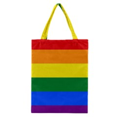 Pride Flag Classic Tote Bag by Valentinaart